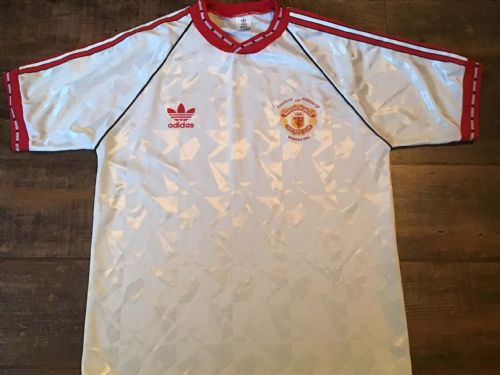 1991 Manchester United ECWC Football Shirt Large